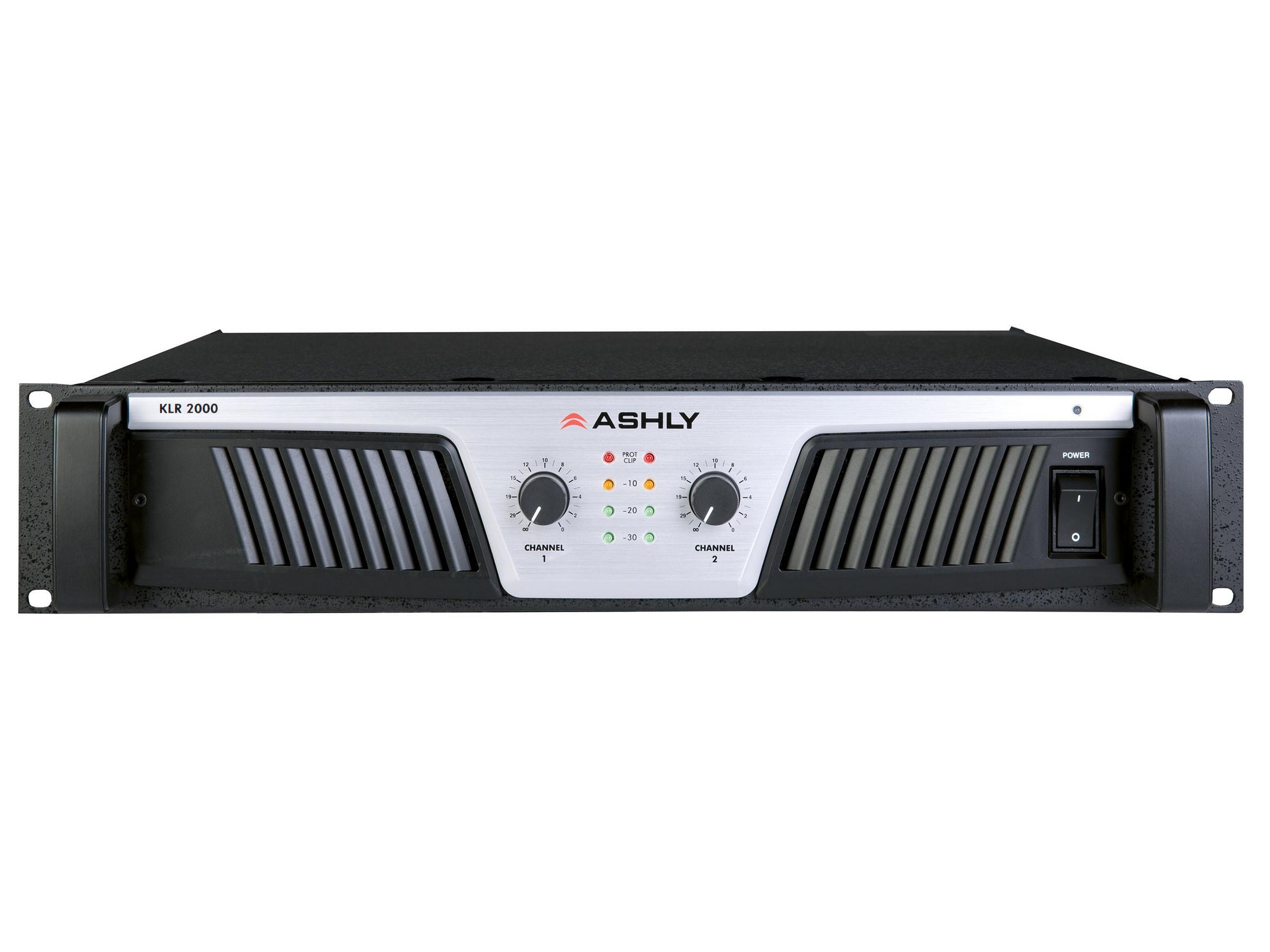 Ashly Klr 2000 Power Amplifier 2 X 1000w 2600w 4350w 8 Ohms 600w Audio