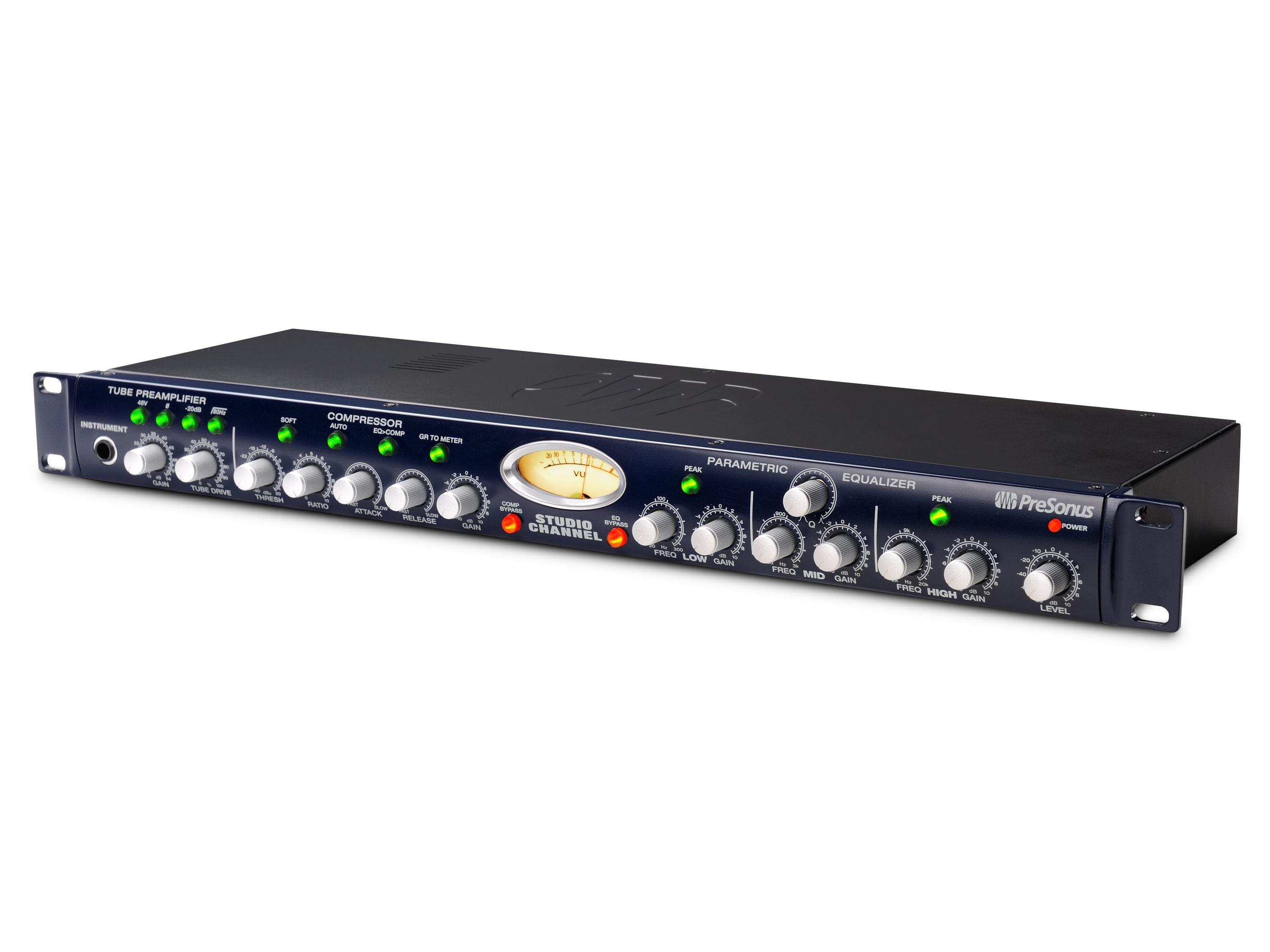 Details about PreSonus Studio Channel Single Channel Tube Strip - Mic  Preamp/Comp/EQ