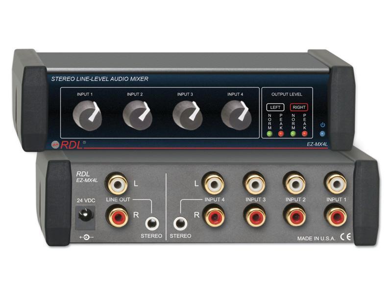 rdl ez mx4l 4x1 stereo line level audio mixer ebay